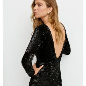 Low back sequin Little Black Dress